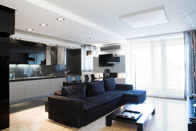 BUDOWAPLUS PL  Apartament w Warszawie -> Salon Kuchnia Razem