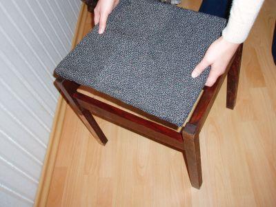 Tapicerowanie siedziska krzesła