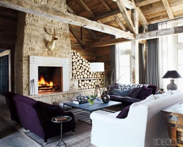 Budowaplus pl kamienne kominki for Interior log storage